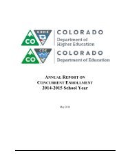 ANNUAL REPORT CONCURRENT ENROLLMENT 2014-2015 School Year