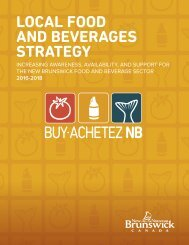 LOCAL FOOD AND BEVERAGES STRATEGY