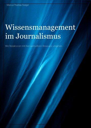 Wissensmanagement im Journalismus_web - Es finden gerade ...