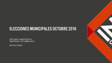 Elecciones municipales octubre 2016
