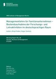 Managementlehre für Familien unternehmen – Bestandsaufnahme ...