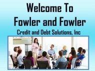 Professional Credit Repair Specialist at Fowler & Fowler