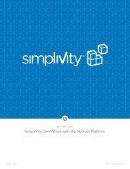 SimpliVity OmniStack with the HyTrust Platform