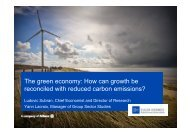 The green economy: How can growth be reconciled with reduced ...