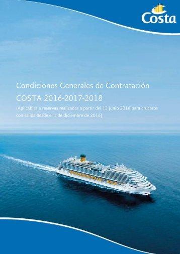 Condiciones Generales de Contratación COSTA 2016-2017-2018