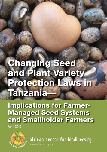 Changing Seed and Plant Variety Protection Laws in Tanzania—