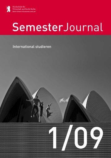 SemesterJournal 1/09 - MBA Programme der HWR Berlin