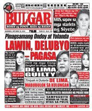 October 20, 2016 BULGAR: BOSES NG PINOY, MATA NG BAYAN