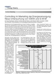 Controlling im Marketing der Energieversorgung: Neue ...