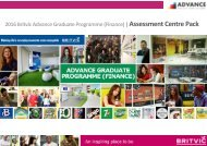 Britvic Advance Programme Finance - Candidate Information Pack