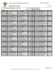 Calendario e Regras