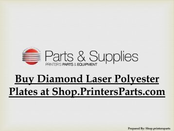 Buy Diamond Laser Polyester Plates at Shop.PrintersParts.com