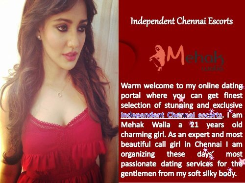 Stunning Independent Chennai Escorts