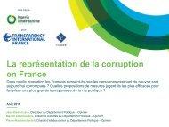 La représentation de la corruption en France
