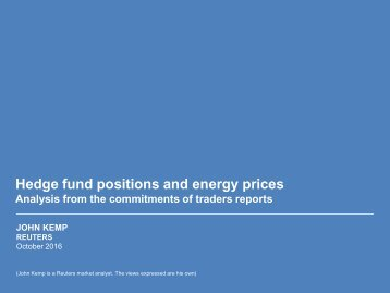 Hedge fund positions and energy prices