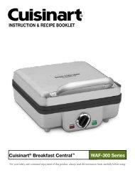 Cuisinart Belgian Waffle Maker with Pancake Plates -WAF-300 - MANUAL