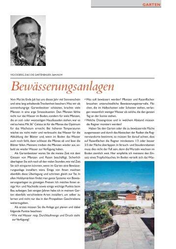 Bewässerungsanlagen - D&S Die Gartenbauer AG