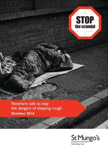 Nowhere safe to stay the dangers of sleeping rough