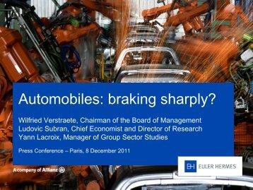 Automobiles: braking sharply?