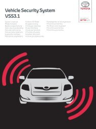 Toyota Vehicle security system - PZ464-90133-00 - Vehicle security system - VSS3.1 - for all languages - mode d'emploi