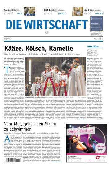 Die Wirtschaft Köln - Ausgabe 01 / 2016