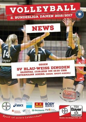 Spieltagsnews Nr. 01 gegen SV Blau-Weiss Dingden