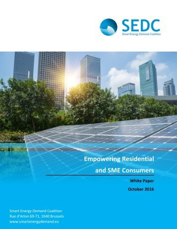 Empowering Residential and SME Consumers