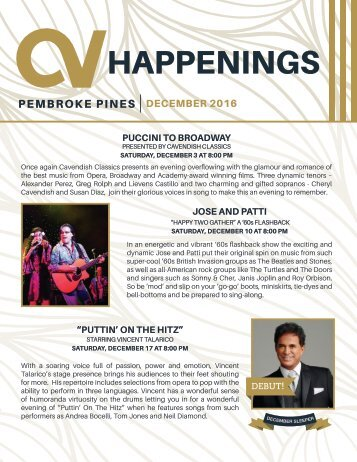 Pembroke Pines December 2016 Happenings