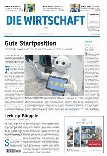Die Wirtschaft Köln - Ausgabe 02 / 2016