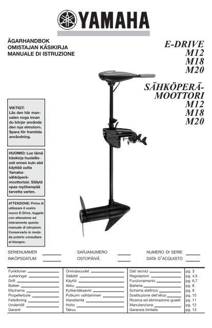 Yamaha M12 - 2012 - Manuale d'Istruzioni Suomi
