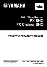 Yamaha FX SHO - 2011 - Manuale d'Istruzioni English