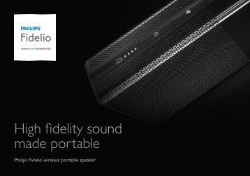 Philips Fidelio wireless portable speaker - Product brochure - ENG
