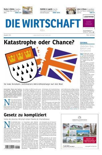 Die Wirtschaft Köln - Ausgabe 03 / 2016
