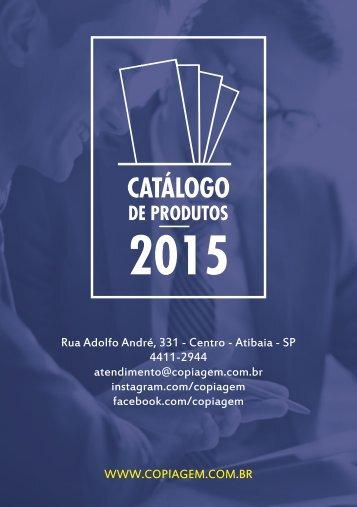 CATÁLOGO DE SERVIÇOS - COPIAGEM
