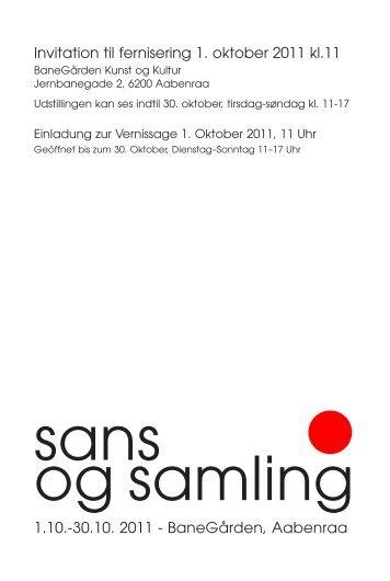 Invitation til fernisering 1. oktober 2011 kl.11 1.10 ... - Frauke Petersen