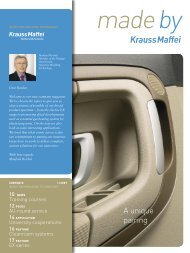 A unique pairing - Krauss Maffei
