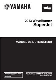 Yamaha Superjet - 2013 - Manuale d'Istruzioni Français