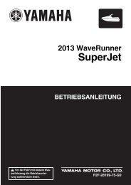 Yamaha Superjet - 2013 - Manuale d'Istruzioni Deutsch