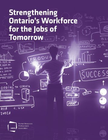 Strengthening Ontario's Workforce for the Jobs of Tomorrow