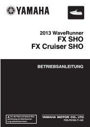 Yamaha FX HO Cruiser - 2013 - Manuale d'Istruzioni Deutsch