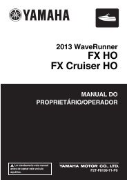 Yamaha FX HO Cruiser - 2013 - Manuale d'Istruzioni Português