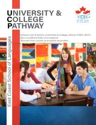 ECSL - University & College Pathway