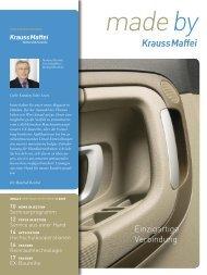 Einzigartige Verbindung - Krauss-Maffei Kunststofftechnik GmbH