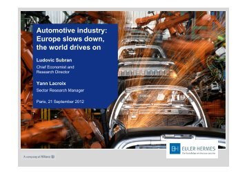 Automotive industry: Europe slows down, the world drives on