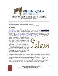 Should There Be Islamic Rule in Somalia?