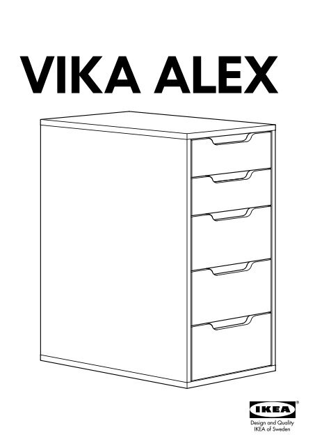 Ikea Alex Caisson à Tiroirs 50255287 Notice Et Plan De Montage Pdf