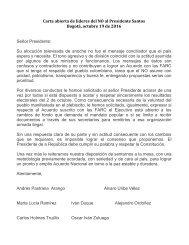 Carta abierta de líderes del NO al presidente Juan Manuel Santos
