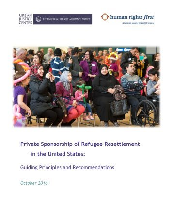 Private Sponsorship of Refugee Resettlement in the United States