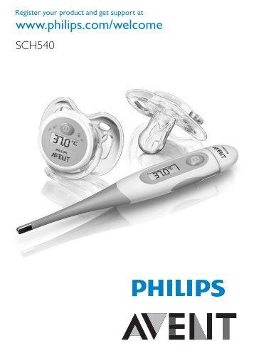 Philips Avent Digital baby thermometer set - User manual - DEU