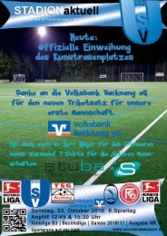SV Unterweissach - FC Oberrot & SV Unterweissach II - AC Azzurri Fellbach